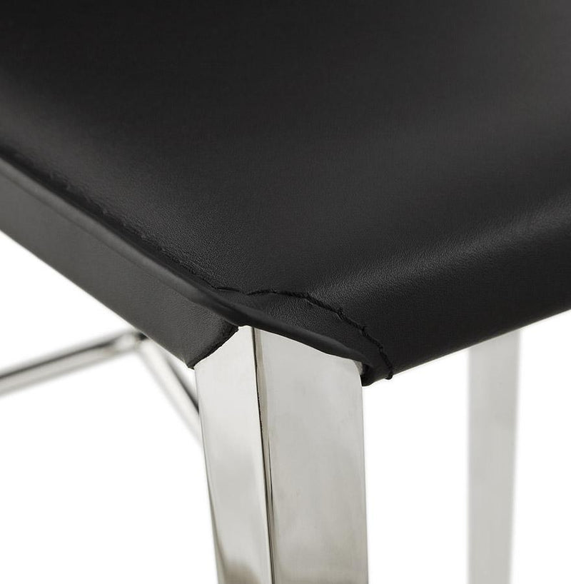 Edy - Mid-Height Bar Stool With Smooth Imitation Leather Padded Seat - HM_FURNITURE