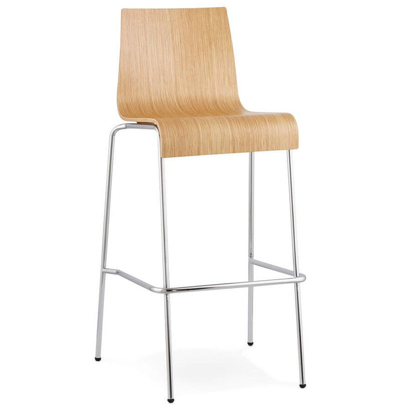Mario - Stackable Bar Stool With Wooden Seat 103 CM - HM_FURNITURE