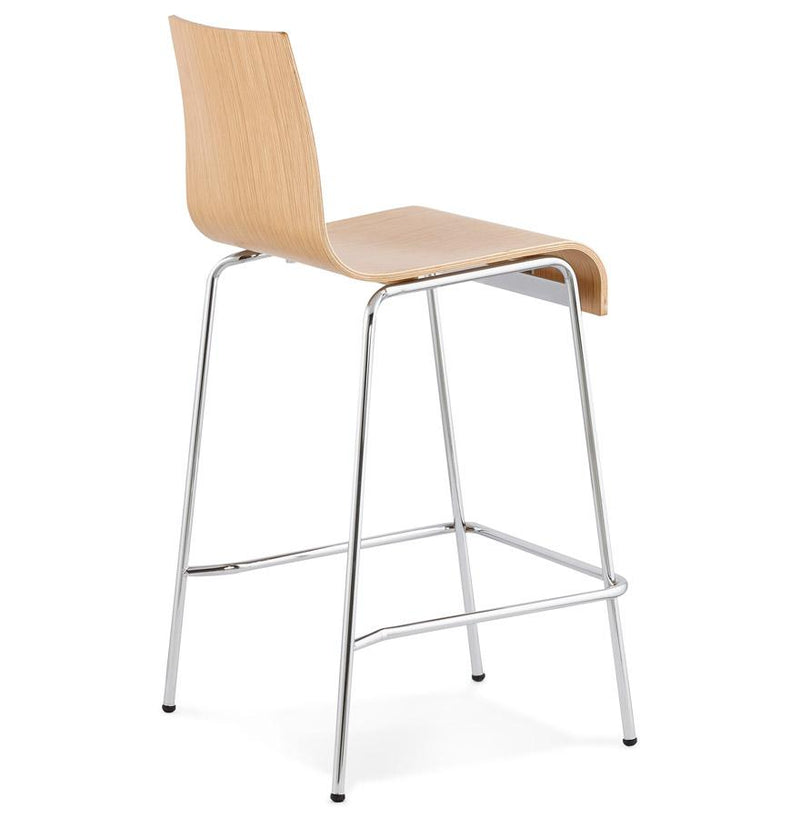 Mario - Stackable Bar Stool With Wooden Seat 94 CM - HM_FURNITURE