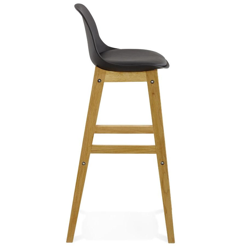 Ederne - Scandinavian Inspired Bar Stool With Oak Frame and Padded Seat - HM_FURNITURE