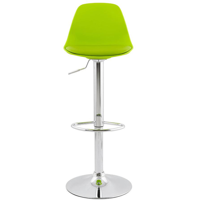 Next - Height Adjustable Bar Stool with Curved Backrest and Padded Seat - HM_FURNITURE