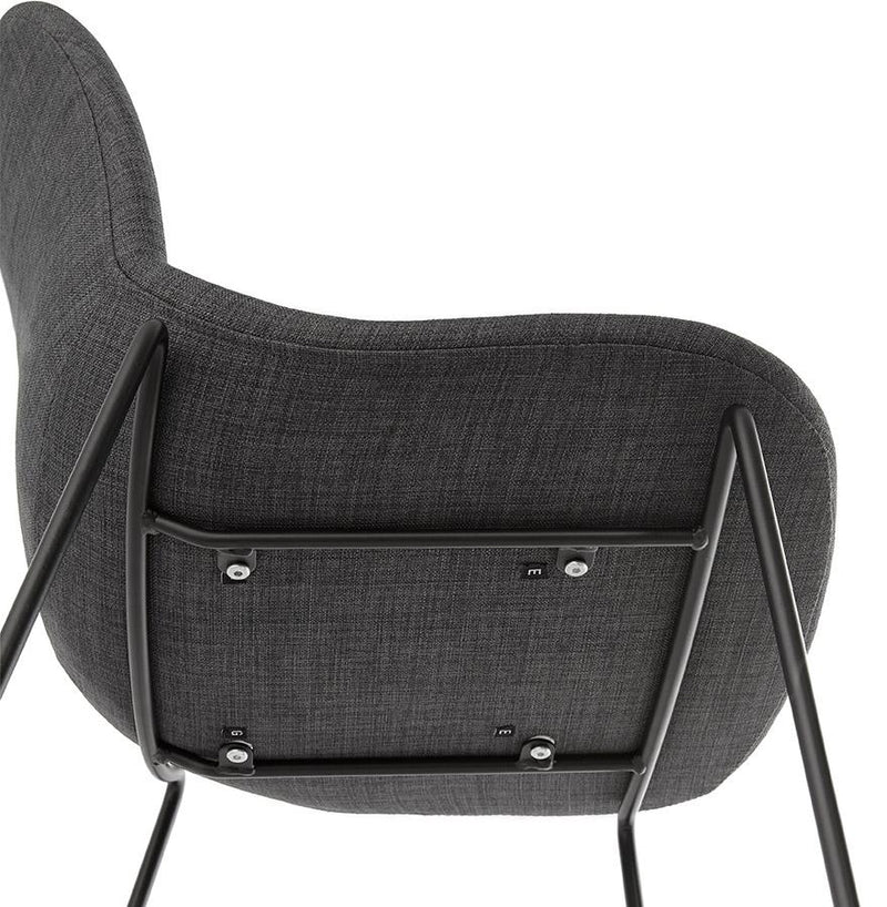 Andy - Modern Bar Stool With Denim Fabric Seat - HM_FURNITURE