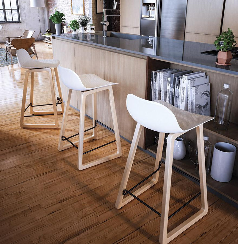 Milano - Scandinavian Bar Stool in White, Pink, Blue or Black - HM_FURNITURE