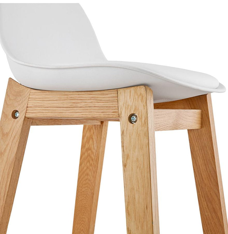 Aili - Scandinavian Inspired Design Bar Stool With Oak Frame and Padded Seat 86.5 CM - HM_FURNITURE