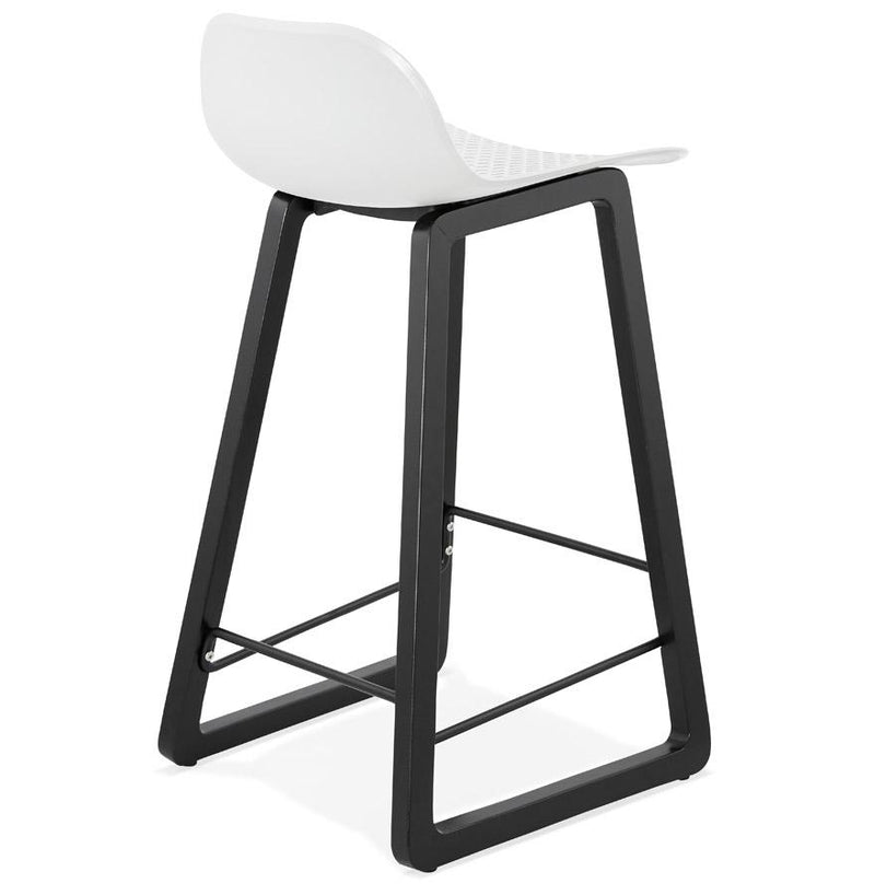 Anneliese - Wooden Base Bar Stool With Geometric 3D Shapes - HM_FURNITURE