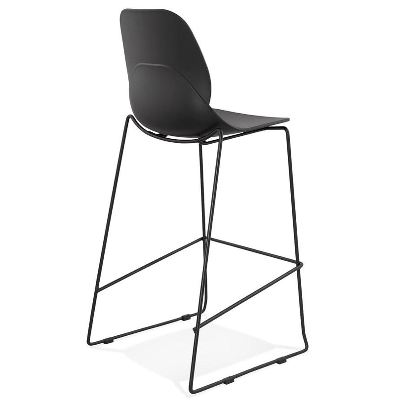 Elio - Elegant Bar Stool With Metal Base - HM_FURNITURE