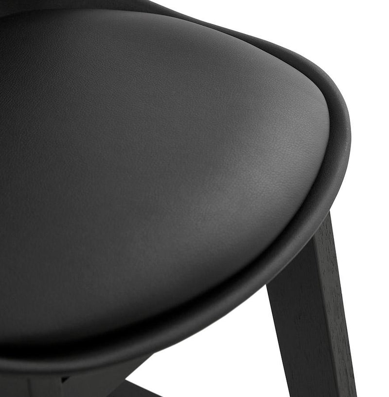 Signe Mini - Moulded Backrest Bar Stool With Wooden Frame - HM_FURNITURE