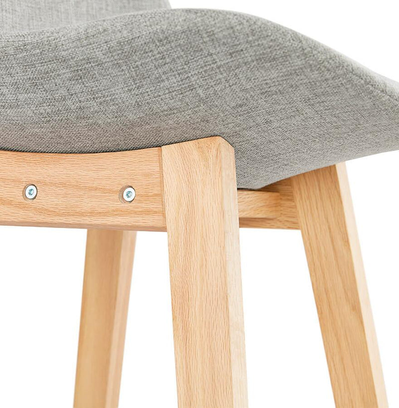 Elsa - Wooden Bar Stool with Fabric Padded Seat 112 CM - HM_FURNITURE