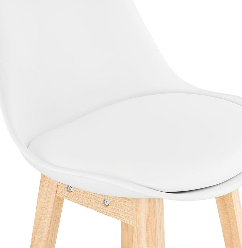 Astrid Mini - Wooden Bar Stool With Padded Seat 102 CM - HM_FURNITURE