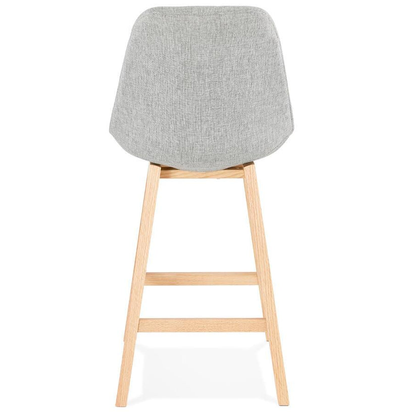 Astrid Mini - Wooden Base and Fabric Seat Bar Stool 102 CM - HM_FURNITURE
