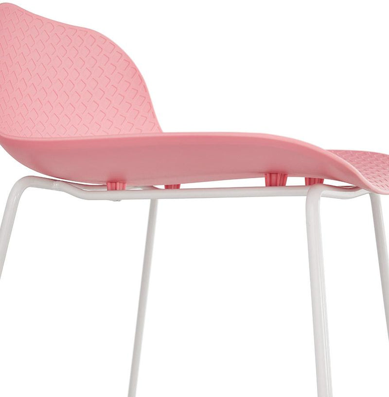 Jade Midi - Modern Bar Stool in Pink, Blue, Grey, Black or White 95 CM - HM_FURNITURE