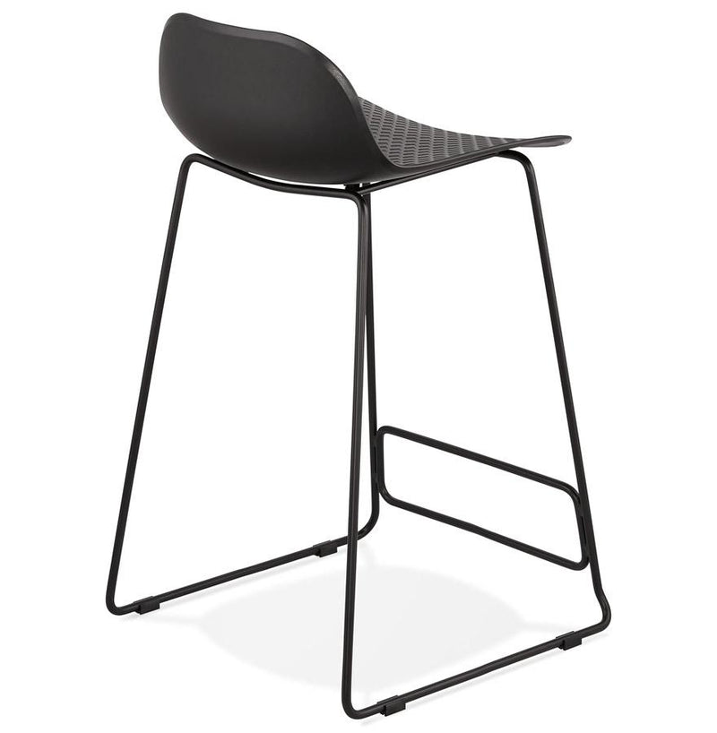 Jade Midi - Black Legs Edition Modern Bar Stool in Pink, Blue, Grey, Black and White 95 CM - HM_FURNITURE