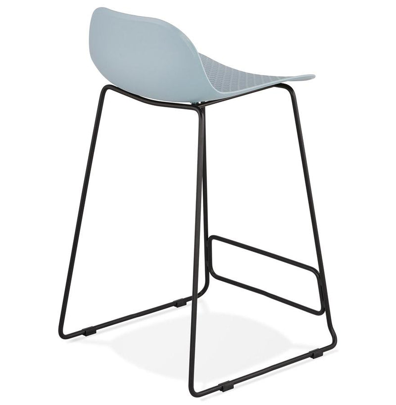 Jade Mini - Black Legs Edition Modern Bar Stool in Pink, Blue, Grey, Black and White 85 CM - HM_FURNITURE