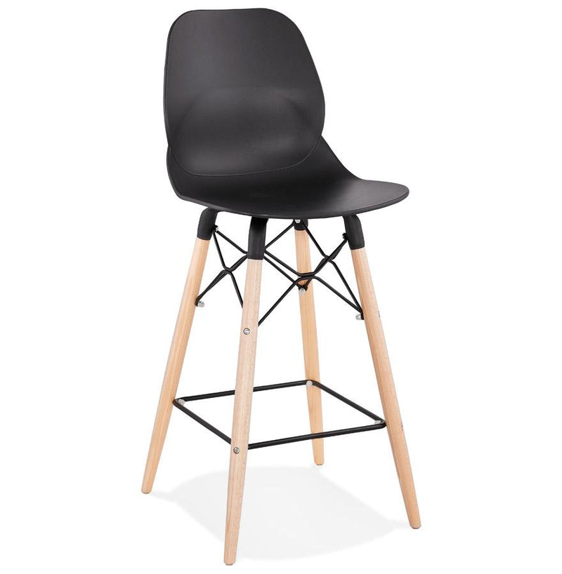 Kristin - Scandinavian Style Bar Stool With Wooden and Metal Base - HM_FURNITURE