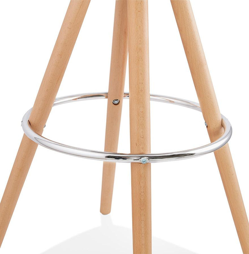 Ederne II - Scandinavian Style Bar Stool With Leather Padded Seat 95 CM - HM_FURNITURE