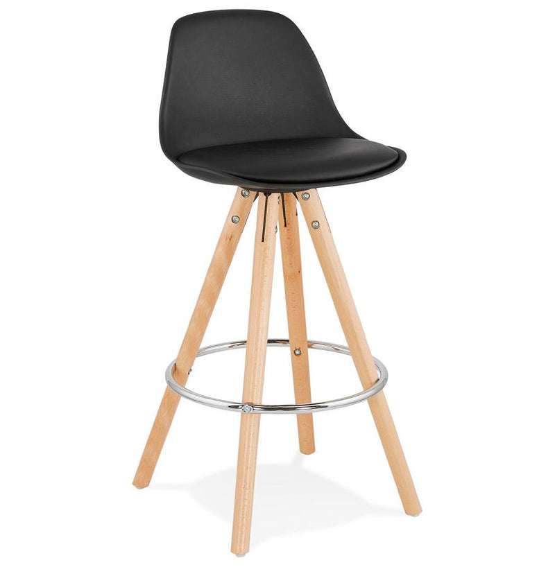 Ederne II Mini - Scandinavian Style Bar Stool With Leather Padded Seat 85 CM - HM_FURNITURE