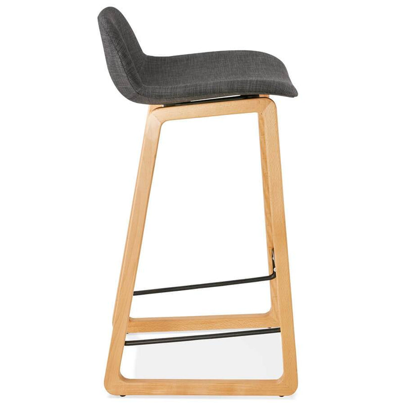 Tina Mini - Modern Bar Stool With Wooden Base and High Quality Fabric Seat 86.5 CM - HM_FURNITURE