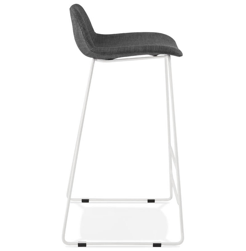Vancouver Midi - Modern Bar Stool With High Quality Fabric Seat and Metal Base 95 CM - HM_FURNITURE