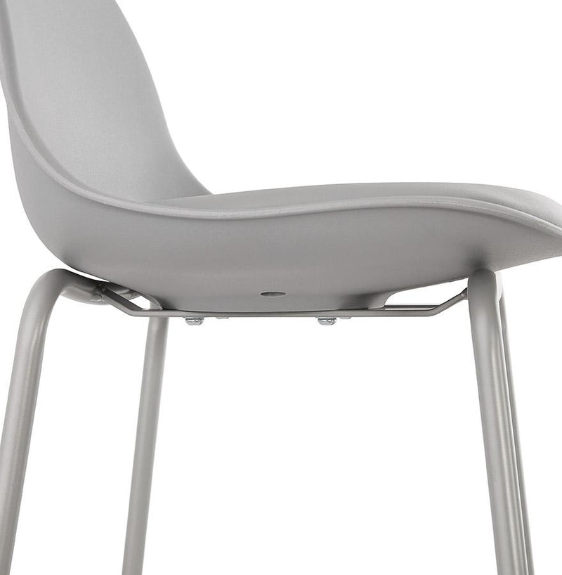 Swan - Comfortable Bar Stool With Leather Padded Seat - HM_FURNITURE
