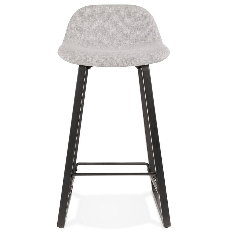 Alva Mini - Bar Stool With Wooden Base and Fabric Seat 86.5 CM - HM_FURNITURE