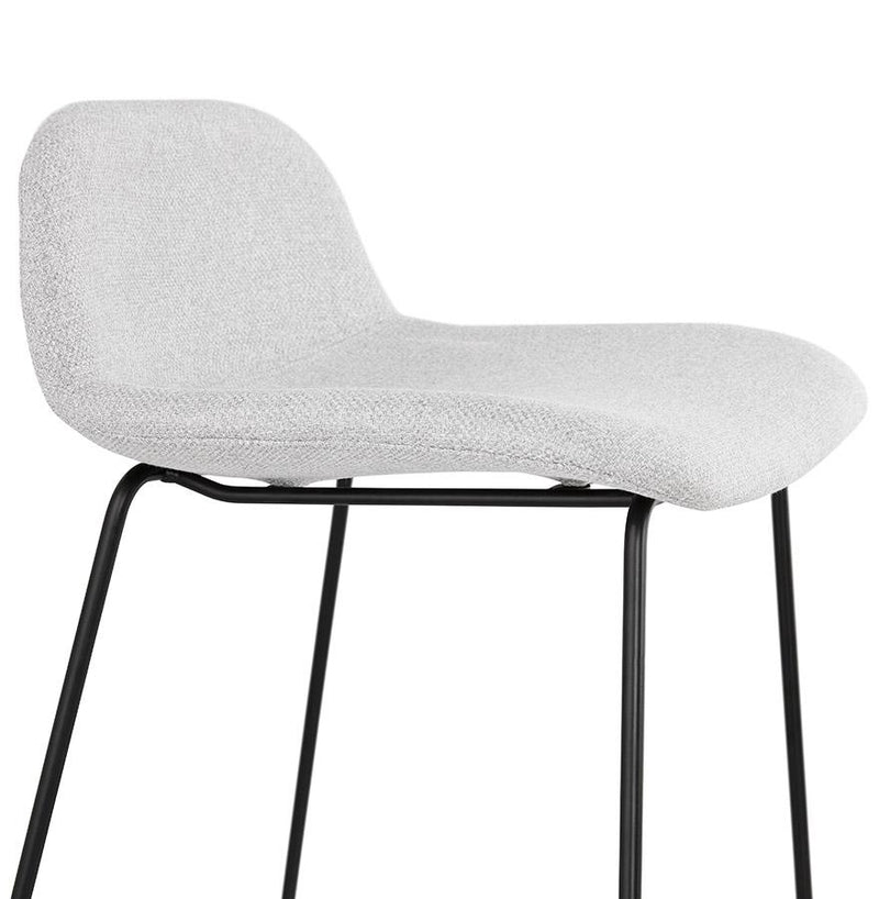 Ake - Soft Modern Bar Stool With Metal Base and Fabric Seat - HM_FURNITURE