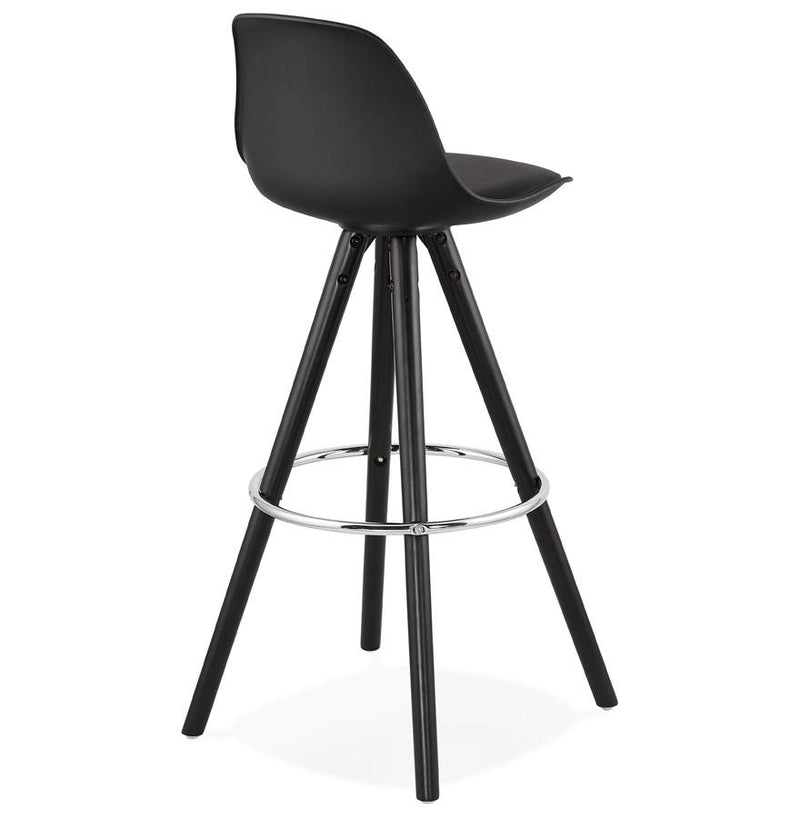 Supra - Elegant Bar Stool With Wooden Base and Padded Seat - HM_FURNITURE