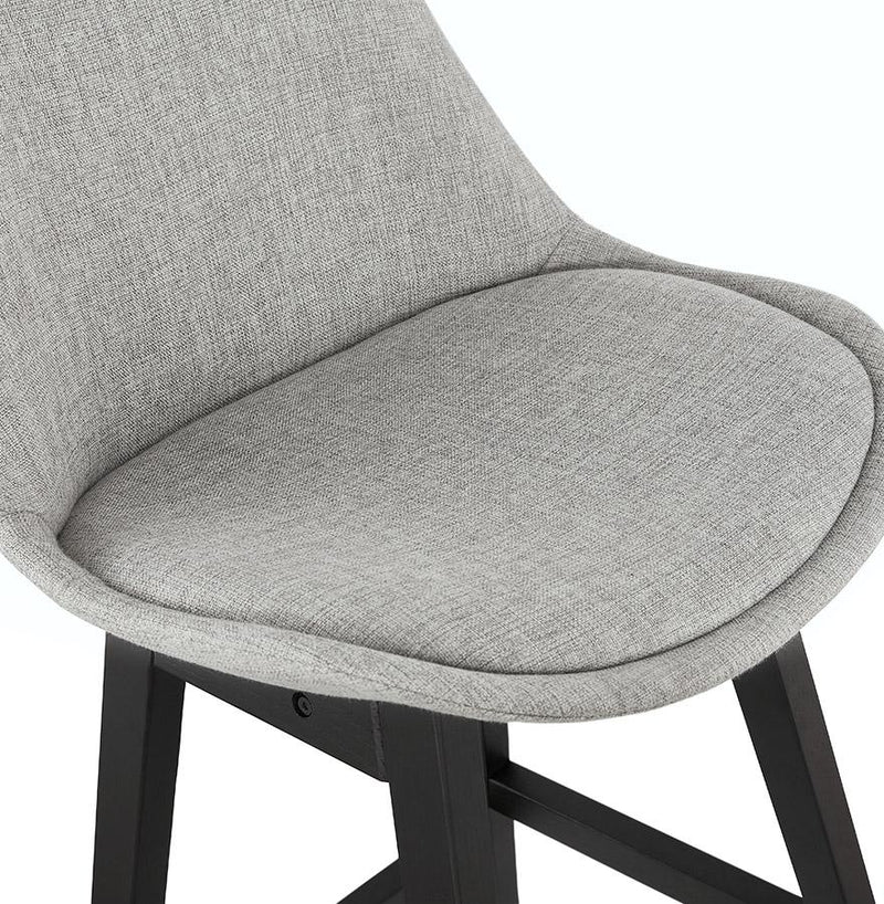 Brant Fabric Edition - Bar Stool With Wooden Base and Fabric Seat - HM_FURNITURE