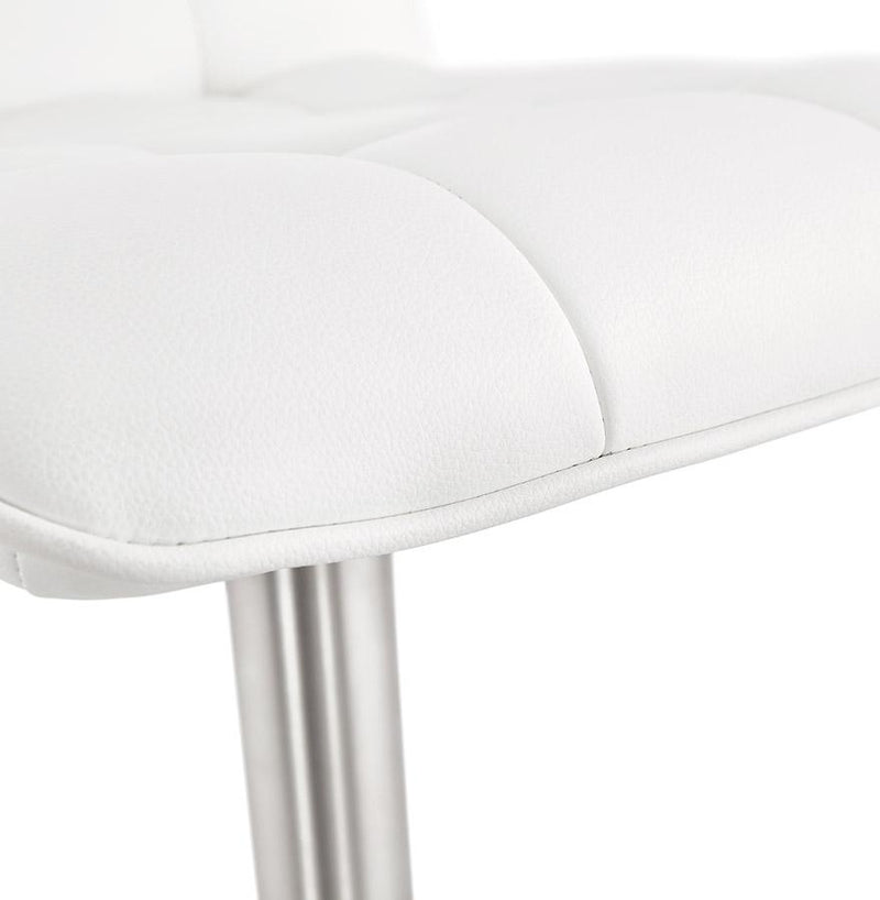 Ada - Elegant Height Adjustable Bar Stool With Leather Padded Seat 112 CM - HM_FURNITURE