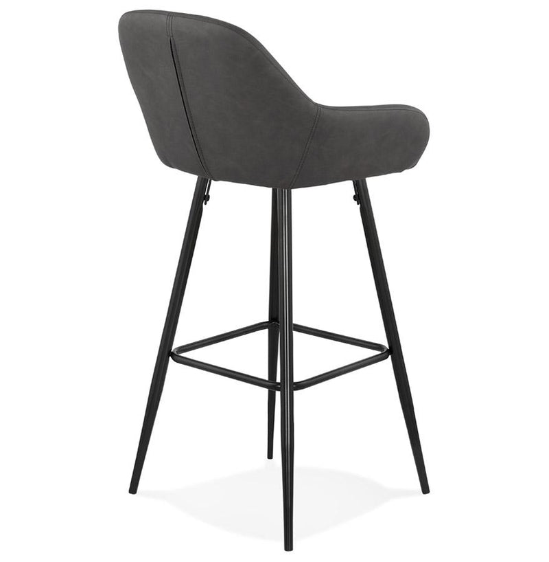 Hugo - Curved Barstool With Armrests and Leather Padded Seat 100 CM - HM_FURNITURE