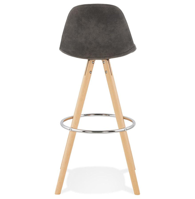 Agota - Scandinavian Style Bar Stool With Wooden Base and Padded Seat 97 CM - HM_FURNITURE