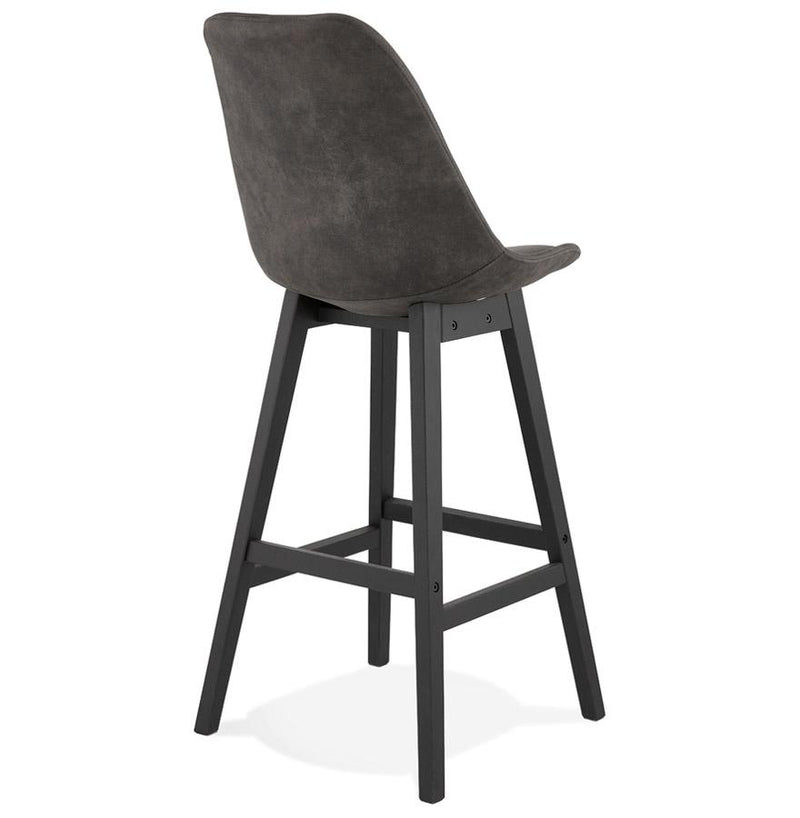 Artur - Bar Stool With Wooden Base and Microfibre Seat - HM_FURNITURE