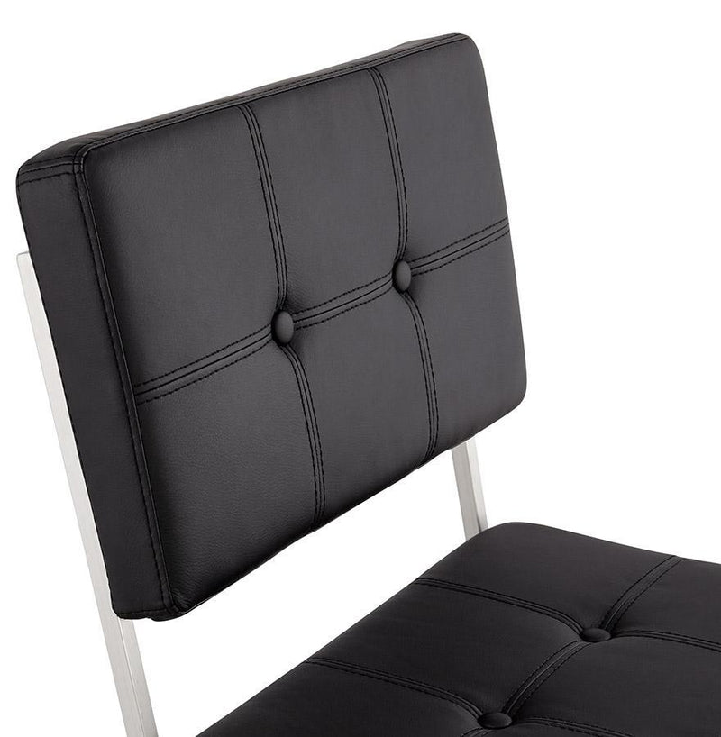 Hugo Faux Leather Padded Seat And Steel Frame Chair - HM_FURNITURE