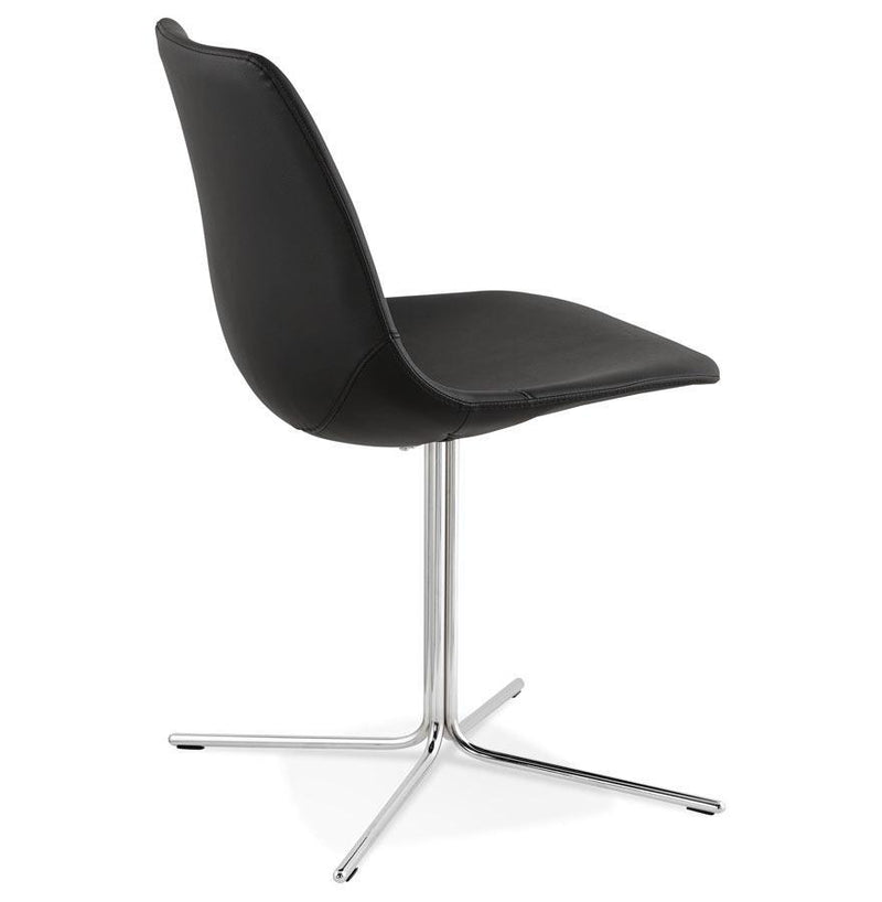 Leo Modern Chair With Padded Shell And Covered In Faux Leather - HM_FURNITURE