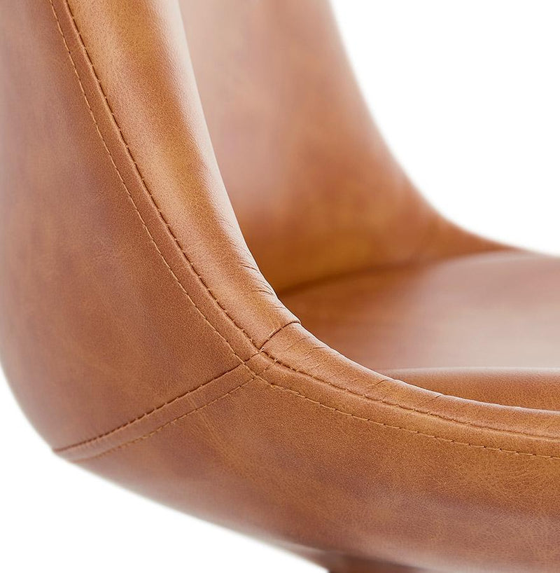 Sofia Faux Leather Padded Chair - HM_FURNITURE