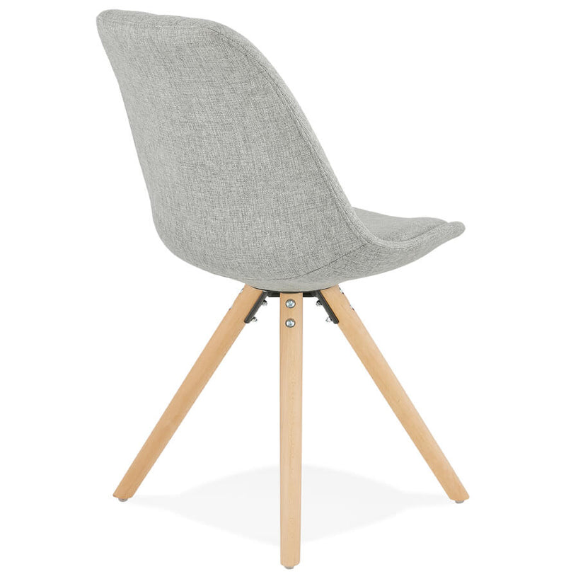 Alvis - Scandinavian Style Chair With Wooden Base and Fabric Seat 82 CM - HM_FURNITURE