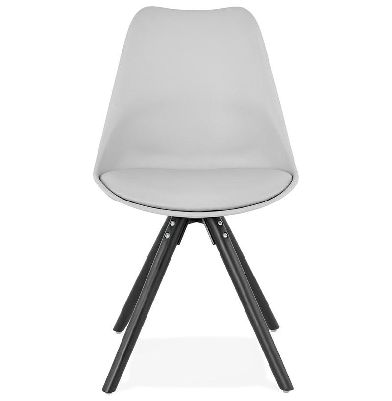 Mona - Contemporary Style Chair With Wooden Legs and Padded Seat - HM_FURNITURE