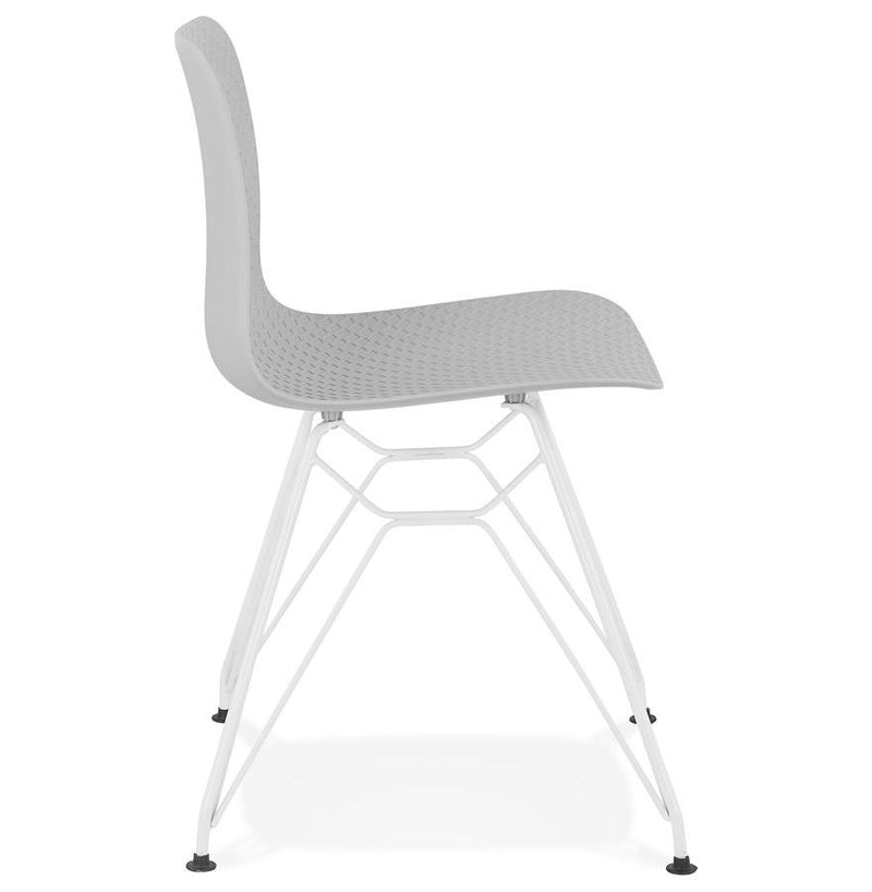 Nariza - Attractive Multi-Use Chair With 3 D Geometric Patterns and Metal Base - HM_FURNITURE