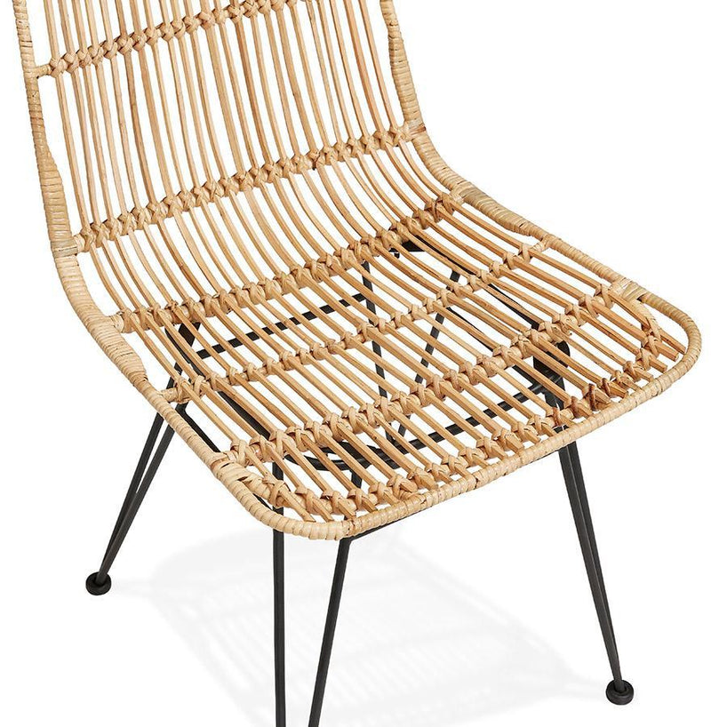 Krista Rattan Chair With Metal Base - HM_FURNITURE