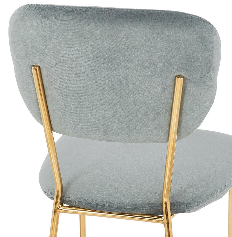 Rocco Velour Covered Vintage Chair - HM_FURNITURE