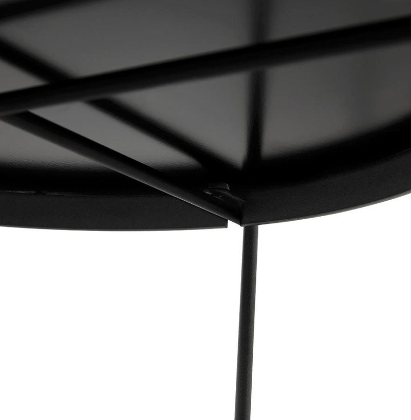 Alonzo Midi - Multi-Use Low Table With Metal Structure and Mirrored Top 45 CM - HM_FURNITURE