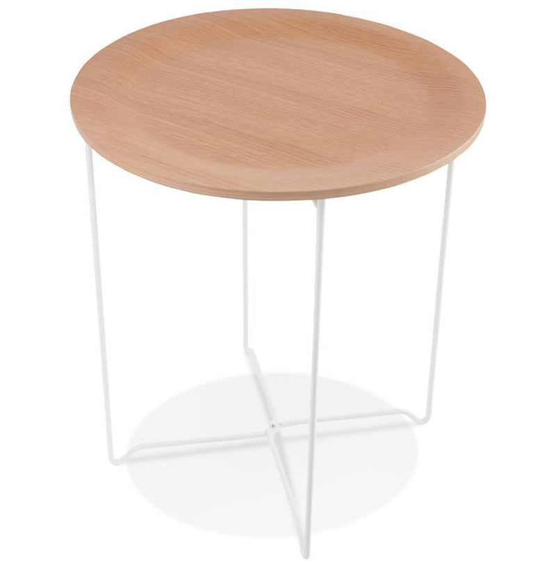 Onyx - Coffee Table With Wooden Top and Metal Base 52.5 CM - HM_FURNITURE