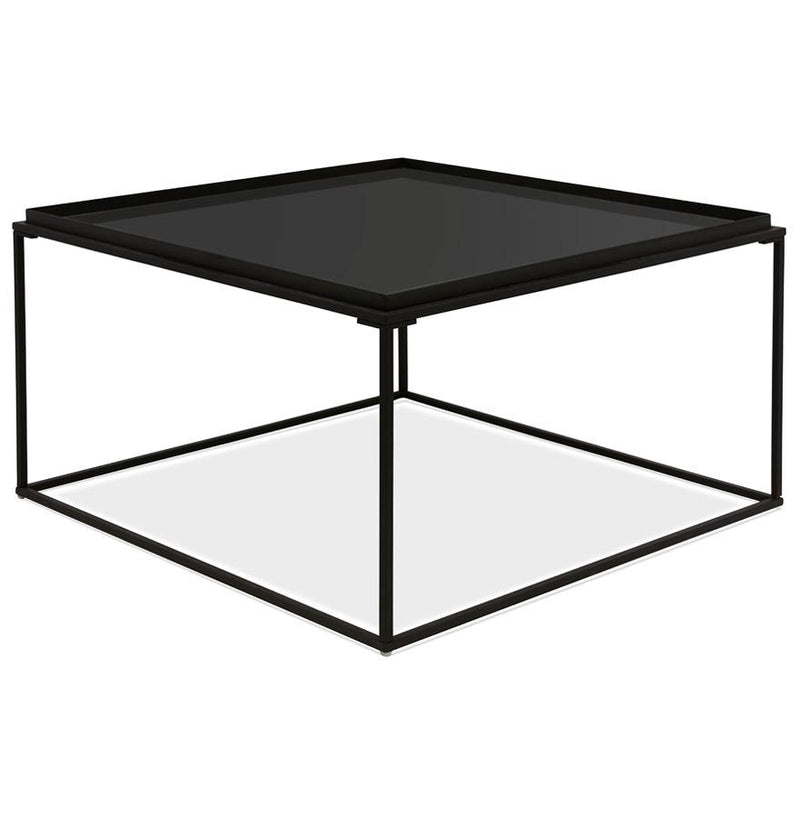Loud Midi - Lounge Table With Tempered Glass Top and Metal Base - HM_FURNITURE