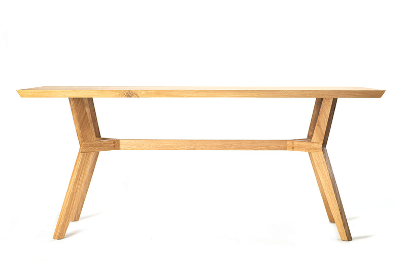 Oak Geometrical Dining Table
