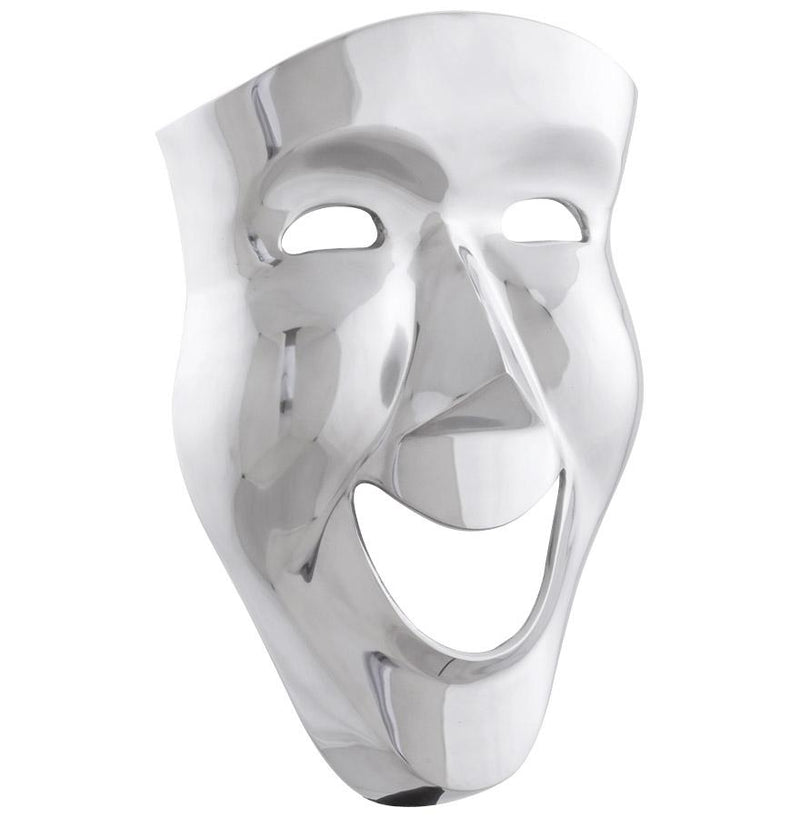 Hand Crafted Aluminium Wall Decor Mask - HM_FURNITURE