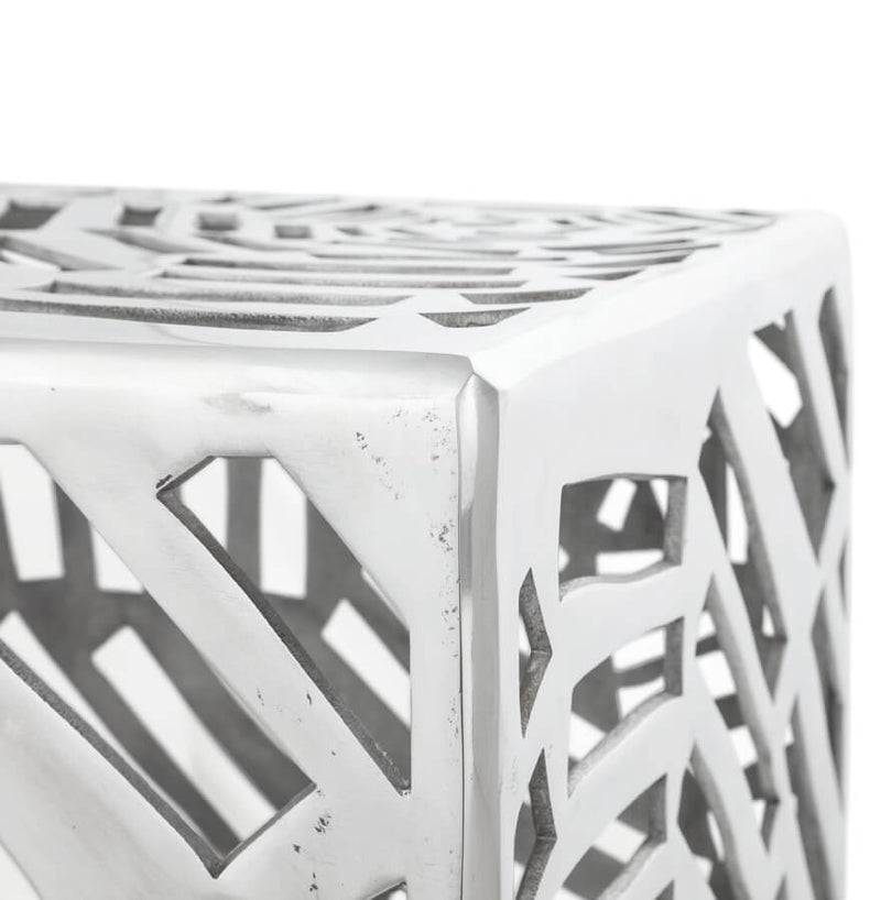 Handcrafted Aluminium Low Stool 37 CM - HM_FURNITURE