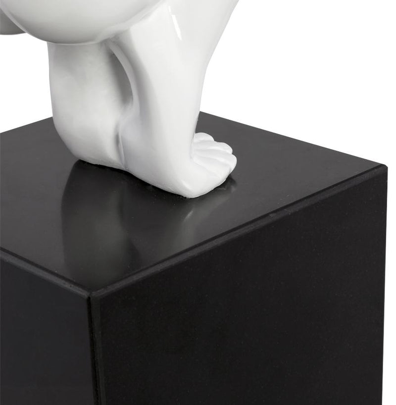 Representation of an Athlete Resin and Marble Base Statue 54 CM - HM_FURNITURE