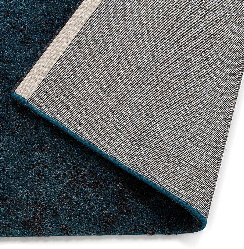 Ederne - Rectangular Short Pile Rug Navy Blue - HM_FURNITURE