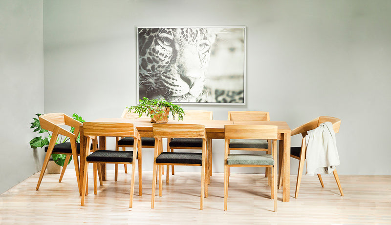 Saga - Rectangular Dining Table, Oak Wood