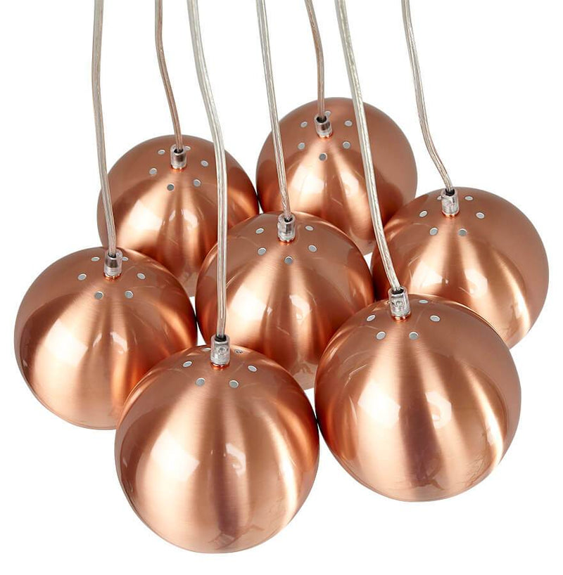 Ceiling Lamp With 7 Metal Bowls - HM_FURNITURE