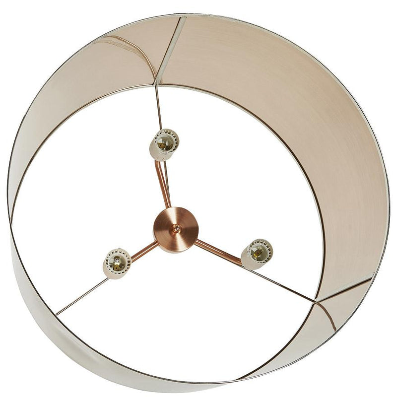 Tabu - Height Adjustable Hanging Lamp With Cylindrical Metal Lampshade - HM_FURNITURE